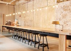 Exposed Walls at the HI Bar   The Hollander, Chicago   Hotel Design   est living