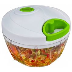 Brieftons Manual Food Chopper, Compact and Powerful Hand Held Vegetable Chopper/Mincer/Blender to Chop Fruits/Vegetables/Nuts/Herbs/Onions/Garlics for Salsa/Salad/Pesto/Coleslaw/Puree Food Processor Reviews, Small Food Processor, Food Chopper, Salsa Salad, Vegetable Chopper, Football Snacks, Mini Foods, Coleslaw, Kitchen