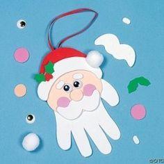 Lavoretti natalizi con le impronte delle mani