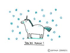 Bsmiley:  WANT!!!/   Unicorn magic, Gemma Correll