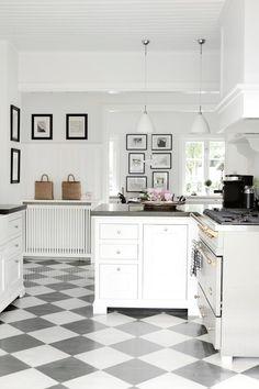 Charming checkerboard floor