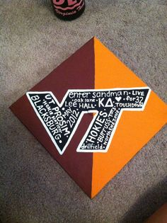 vt decorated graduation caps | Virginia Tech Graduation Cap