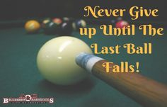Never give up! #Motivation #Billiards