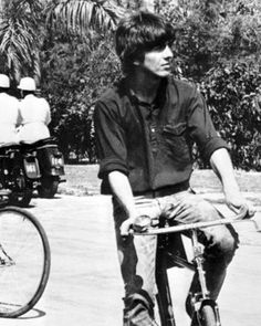 George Harrison during the filming of 'Help!', The Bahamas, 1965