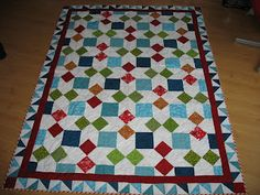 my xmas quilt from McCalls