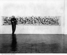 Abstract Expressionist painter Jackson Pollock poses for portrait. (gettyimages)