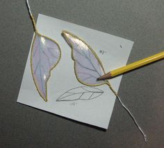 Wing Tutorial. Could this be done with polymer clay as well?  Maybe if you used liquid polymer clay it might work well.