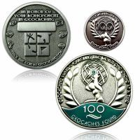 Geo Award Geocoin - 100 Finds Set (incl. Pin)