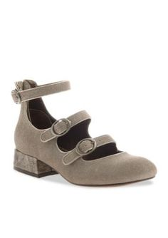 Poetic Licence Gray Silver Baby Feet Heels