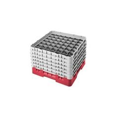"""Cambro Camrack 49 Comp Full Size Glass Rack w/ 6 Extenders, Red - Case = 2 by Cambro. $141.43. CAMRACK GLASS RACK, W/6 EXTEND ERS, FULL SIZE, 49 COMPARTMENT S, 2-7/16"""""""""""""""" MAX. DIA., 11-3/4"""""""""""""""" MAX. HEIGHT, RED 374971 - Case = 2. Save 48%!"""
