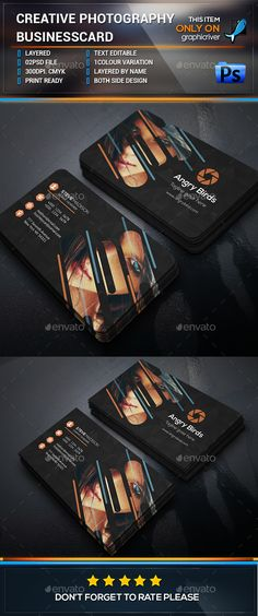 Photography business card template psd design download http download free graphicriver creative photography business card birthday black businesscard camera fbccfo Gallery