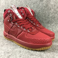 a30a79e077 Authentic Mens Nike Lunar Force 1 Duckboot Trend Shoes United States all  red Discout Sale