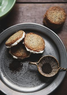 Earl Grey Cookie Sandwiches with Lemon Buttercream — a Better Happier St. Sebastian