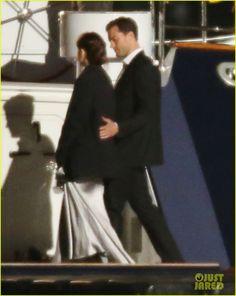 Dakota Johnson & Jamie Dornan Film 'Fifty Shades' on a Yacht