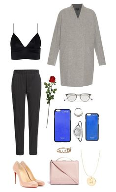 """""""burning r e d"""" by arcvs ❤ liked on Polyvore featuring T By Alexander Wang, Christian Louboutin, rag & bone, Garrett Leight, Calvin Klein, Eddie Borgo, Accessorize, Laura Cole, AlexanderWang and christianlouboutin"""