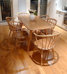 ercol table and chairs Ercol Table, Ercol Dining Chairs, Ercol Chair, Ercol Furniture, Coffee Chairs, Dining Room Furniture, Beach Dining Room, Dining Room Table, Table And Chairs