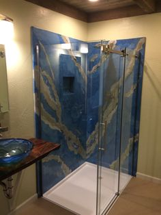Concrete Shower Panels Sizes up to x x Concrete Shower, Poured Concrete, Concrete Art, Have A Shower, Walk In Shower, Shower Wall Panels, Stone Slab, Tile Installation, Home Projects