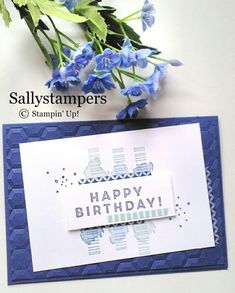 Today is the day of the release of more Sale-a-Bration items. There is DSP, a Stamp set and a stamp and Dynamic Textured Impressions Embossing Folder Bundle. Paper Cards, Diy Cards, Men's Cards, Rainbow Card, Up Balloons, Stamping Up Cards, Fathers Day Cards, Card Maker, Masculine Cards