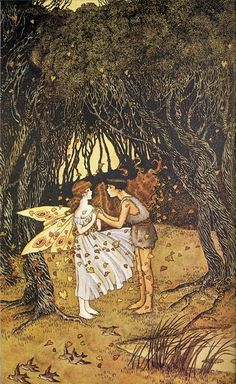 Ida Rentoul Outhwaite ~ Goodbye to Patty ~ The Enchanted Forest ~ 1921 ~ source