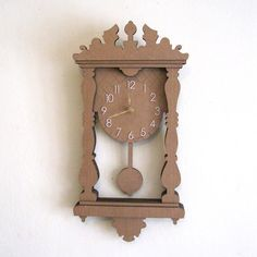 Cardboard Pendulum Wall Clock - I made one of these with my grandfather when I was little. It really worked!