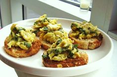 5. Herb Scrambled Egg Crostini
