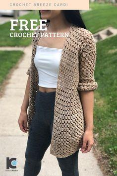 Crochet Cardigan Pattern, Crochet Jacket, Easy Crochet Patterns, Crochet Shawl, Crochet Stitches, Crochet Shrugs, Crochet Vests, Tutorial Crochet, Crochet Tops