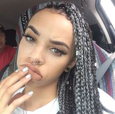 Love the braids Protective Hairstyles, Weave Hairstyles, Curly Hair Styles, Natural Hair Styles, Natural Curls, Light Skin Girls, Hair Laid, Different Hairstyles, Hair Weft
