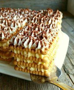 Mësoni se si të përgatisni Tortë pa pjekje duke lexuar përbërësit dhe udhëzimet në recetën tonë. Klikoni mbi titull për më shumë detaje. Croatian Cuisine, Croatian Recipes, Easy No Bake Desserts, Sweet Desserts, 5 Ingredient Desserts, Cake Recipes, Dessert Recipes, Czech Recipes, Sweets Cake