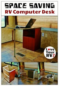 Custom Built Space Saving RV Desk from Love Your RV! - http://www.loveyourrv.com