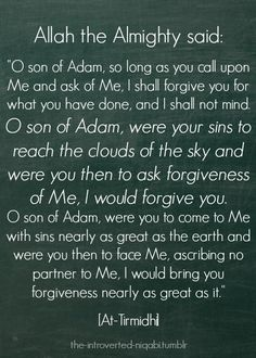 my favorite hadith qudsi ever. subhan Allah.