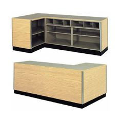 THIS REGISTER COUNTER IN BLK OR MAPLE. $995 Right Side L-Shaped Counter | Retail Checkout Counter - Creative Store Solutions