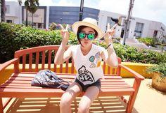 Shark Crop T-Shirt - ★11am: Shop Korean clothing, bags, shoes and acc for women #koreanfashion #fashion #clothes #dress #korea #korean #top #bottom #fashionideas #insta #idea #hip #coolfashion #girls #fun #cute #poshhgirl #beauty #lookbook #outfit #legs #newclassic #simple #loose #relaxedlook #onlinemall #koreanshoppingmall #shoppingmall #onlinestore #koreanonlinestore #fashionstore
