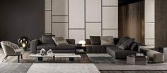 Minotti nieuwe 2016 collectie Freeman sofa Winston fauteuil sfeerfoto