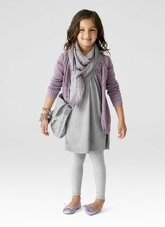 little girl clothes by Eva. Love lavender and grey
