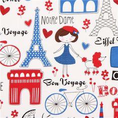 Timeless Treasures Paris France fabric
