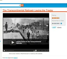 Watch Know Learn Videos -- The Transcontinental Railroad:  Laying the Tracks