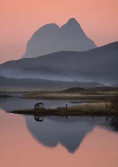 Suilven mountain & Loch Borrolan, Scotland...