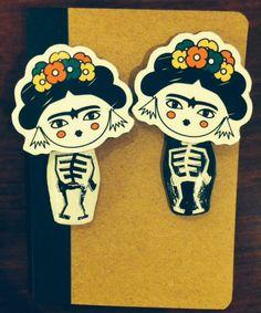Frida magnets dia de los muertos Ici-Pici https://www.facebook.com/icipicicreations?fref=photo