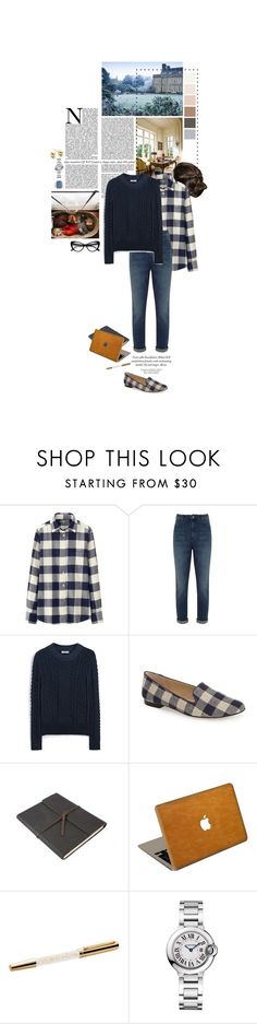 """""""Untitled #2496"""" by duchessq ❤ liked on Polyvore featuring Uniqlo, Mint Velvet, Mulberry, Sole Society, Michael Kors, Valentine Goods, Cartier and Astley Clarke"""