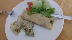 ♥ Mimos de Mãe ♥: Crepe de bacalhau com espinafres Crepes, Chocolate, Guacamole, Mexican, Ethnic Recipes, Food, Ethnic Food, Pancakes, Essen