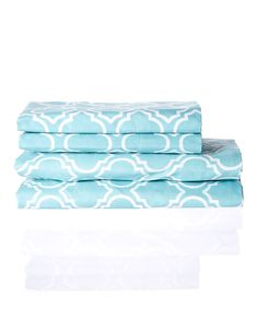 Look at this Canal Blue Arabesque Microfiber Sheet Set on #zulily today!
