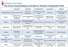 The John Lyon School | Information | Menu
