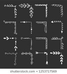 54 ideas flowers drawns with pen - Scrapbook - Chalk Art Chalkboard Doodles, Chalkboard Designs, Chalkboard Art, Chalkboard Invitation, Chalkboard Drawings, Chalkboard Boarders, Chalkboard Lettering Alphabet, Birthday Chalkboard, Album Journal