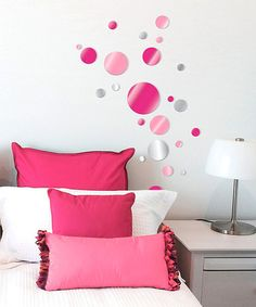 Take a look at this Lot 26 Studio Pink Dot Acrylic Wall Decal Set by Lot 26 Studio on #zulily today!