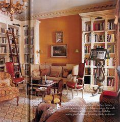 Orange living room - Charlotte Moss - House & Garden, September 2004 - photo: Simon Upton