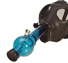 RASTA RUBBER GAS MASK WITH ACYRLIC TUBE