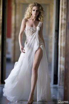 New century Greek Goddess dress Sexy Wedding Dresses, Wedding Gowns, Bridal Gown, Drapery Wedding, Bridal Boudoir, Bridal Dresses, Wedding Reception, Beautiful Gowns, Beautiful Outfits