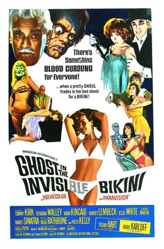 "Movie veterans Boris Karloff (as a ghost), Basil Rathbone and Francis X. Bushman seemed to have fun in this film (1966) which is more than can be said about the audience. It's best known for an appearance by The Bobby Fuller Four of ""I Fought the Law (And the Law Won)"" fame."