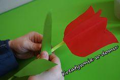 Tulipan z papieru w 5 minut | Kreatywnie w domu Plastic Cutting Board, 3 D