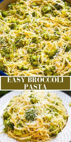 Broccoli Dishes, Broccoli Pasta, Pasta Dishes, Pesto Pasta Salad, Pasta Salad Recipes, Top Recipes, Cooking Recipes, Broccoli Fritters, Pasta Carbonara